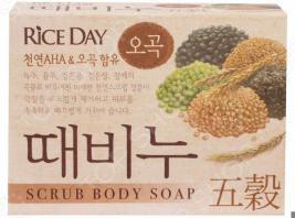 Мыло-скраб для тела CJ Lion Rice Day с экстрактом пяти злаков