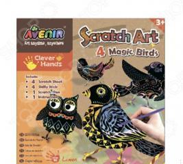 Набор для изготовления гравюр Avenir «Волшебные птички»