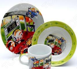 Набор посуды для детей Loraine «Гонки» 23387