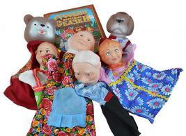 Набор для кукольного театра Русский стиль «Маша и медведь» 40597. В ассортименте