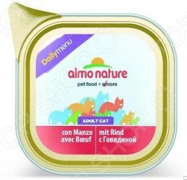 Корм консервированный для кошек Almo Nature DailyMenu Adult с говядиной