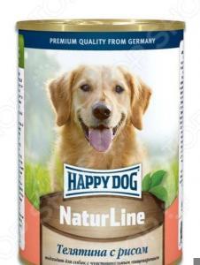 Корм консервированный для собак Happy Dog NaturLine с телятиной и рисом