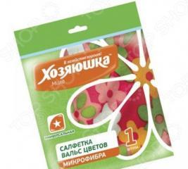 Салфетка универсальная Хозяюшка «Вальс цветов» 04027. В ассортименте