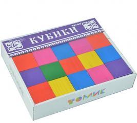 Кубики деревянные Томик 22002. В ассортименте