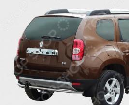 Защита заднего бампера Souz-96 Renault Duster 2012 (4х4)