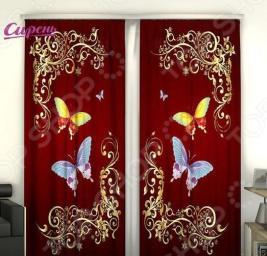 Фотошторы Сирень «Две бабочки»