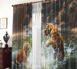 Фотошторы Zlata Korunka «Два тигра»