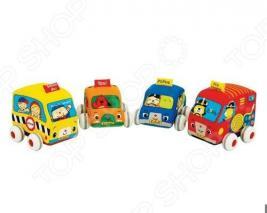 Машинки инерционные мягкие K'S Kids KA459, 4 штуки
