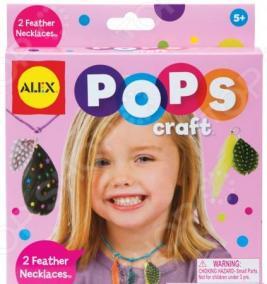 Набор для создания украшений ALEX «Ожерелья с цветными перышками»