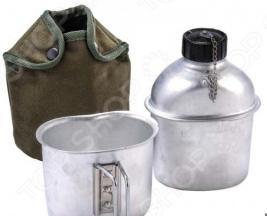 Фляжка алюминиевая с кружкой в чехле BOYSCOUT 61444
