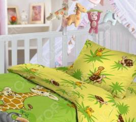 Детский комплект постельного белья Облачко «Джунгли»