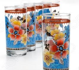 Набор стаканов «Яркое настроение». Цвет: синий