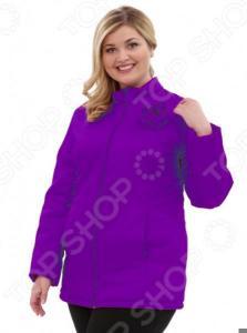 Куртка Гранд Гром «Тонкий вкус с воротником». Цвет: фиолетовый