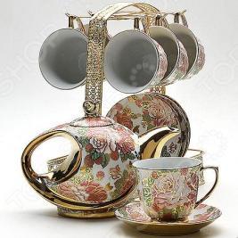 Чайный сервиз «Золотое сияние». Рисунок: золотые сады