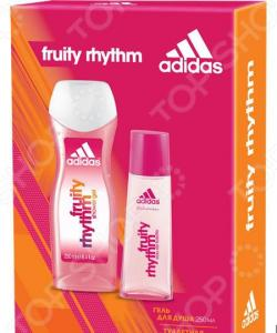 Набор женский: туалетная вода и гель для душа Adidas Fruity Rhythm, 30 мл, 250 мл