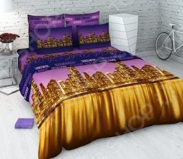 Комплект постельного белья Василиса «Ночной город». 2-спальный