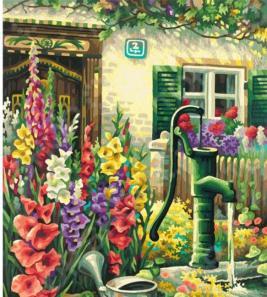 Набор для рисования по номерам Schipper «Цветник у дома»