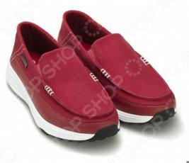 Лоферы парусиновые Walkmaxx. Цвет: красный