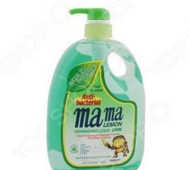 Гель для мытья посуды и детских принадлежностей концентрированный MAMA LEMON с ароматом зеленого чая