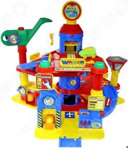 Набор игровой для мальчика Wader «Паркинг 4-уровневый с автомобилями»